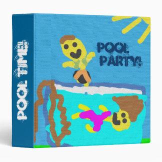 Pool Party 3 Ring Binder