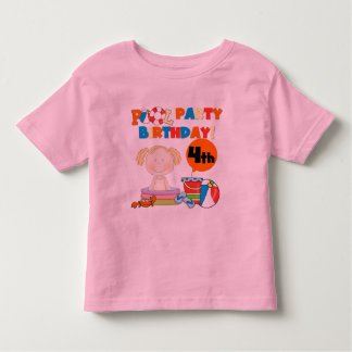 Pool Party 4th Birthday Tshirts and Gifts