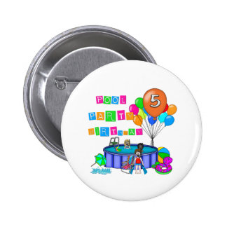 Pool Party 5th Birthday Pin