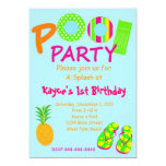 Pool Party 5x7 Paper Invitation Card