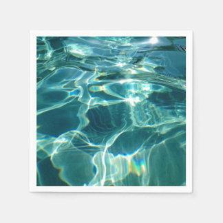 Pool Party Aqua Water Beach Spa Zen Paper Napkins