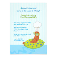 Pool Party BBQ Invitation at Zazzle