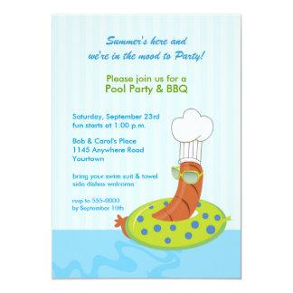 "Pool Party BBQ Invitation 5"" X 7"" Invitation Card"