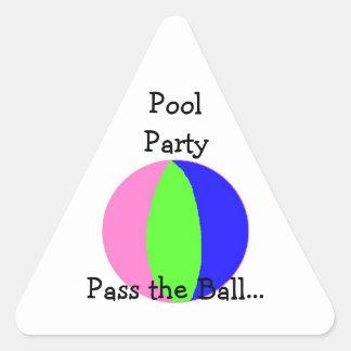 Pool Party - Beach Ball Triangle Sticker