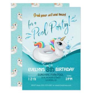 Pool Party Birthday Celebration Invitation