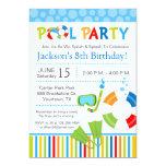 "Pool Party Birthday Invitation 5"" X 7"" Invitation Card"