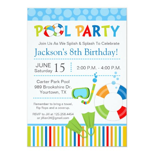 pool party birthday invitations koni polycode co