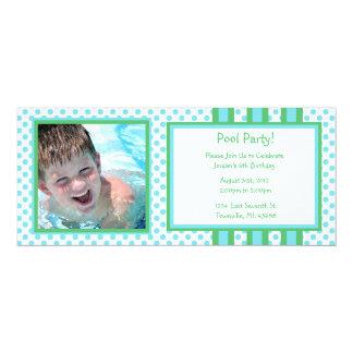 "Pool Party Birthday Invitations 4"" X 9.25"" Invitation Card"