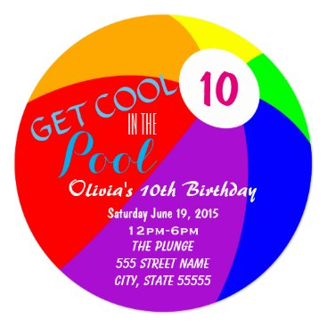 Biba_Central Pool Party Birthday Invite