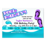 Pool Party Birthday Personalized Invite