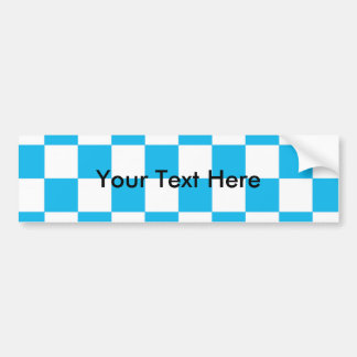 Pool Party Blue Checkerboard Bumper Sticker