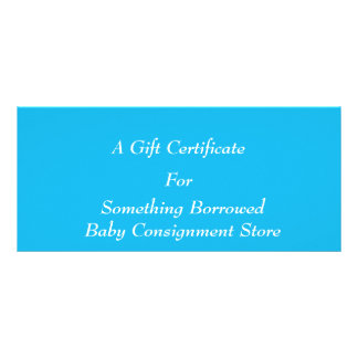 Pool Party Blue Gift Certificate Template