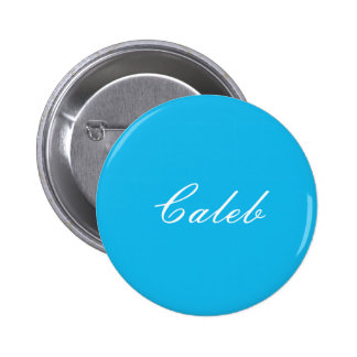 Pool Party Blue Personalized Button