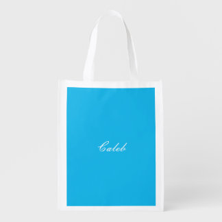 Pool Party Blue Personalized Reusable Grocery Bag