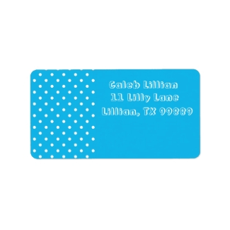 Pool Party Blue Polka Dot Labels