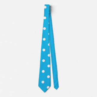 Pool Party Blue Polka Dot Tie