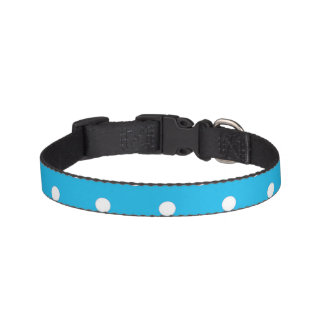 Pool Party Blue Polka Dots Pet Collar