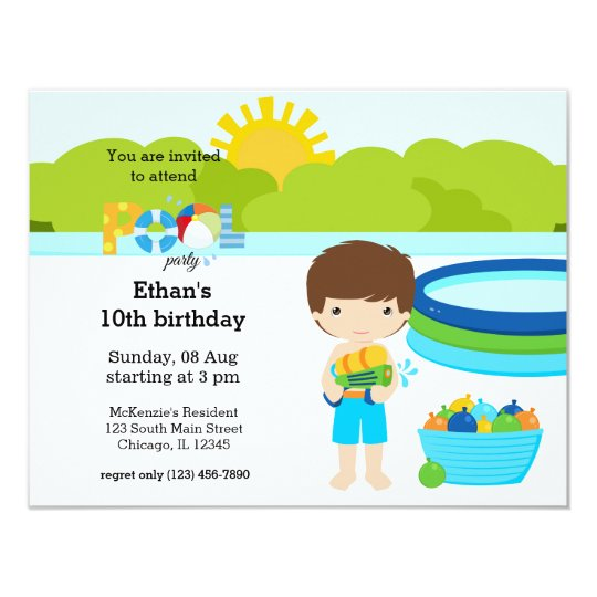 Pool Party (boy) Card
