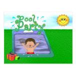 Pool Party Boy Postcard