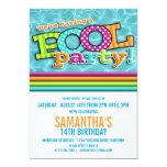 "Pool Party Celebration Invitation 5"" X 7"" Invitation Card"