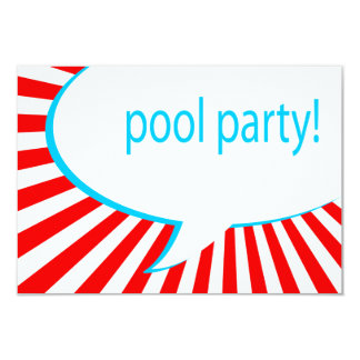 pool party! comic speech bubble card