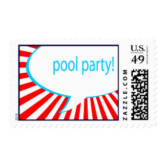 pool party! comic speech bubble stamp