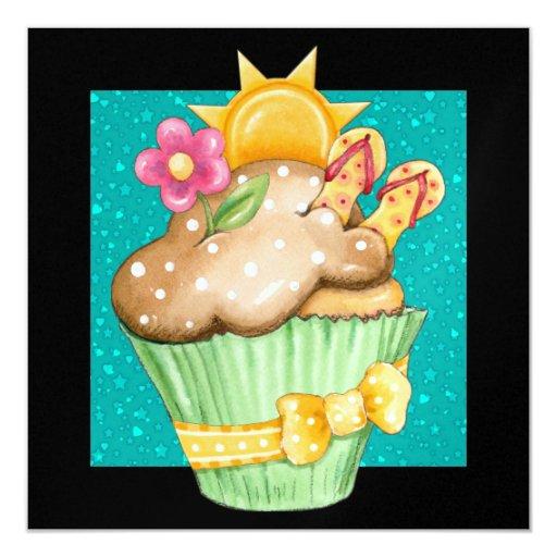 Pool Party Cupcake ! - SRF Card