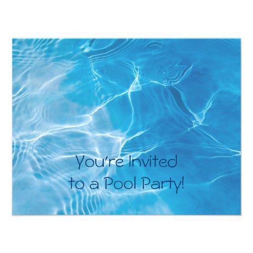 Pool Party Custom Invitation