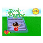 Pool Party Girl Postcard