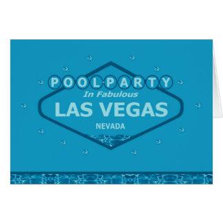 POOL PARTY In Fabulous Las Vegas Card