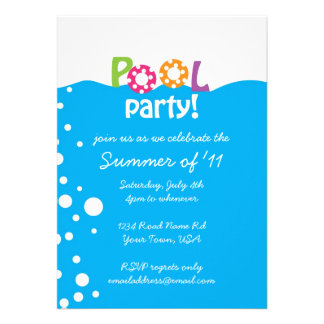 Pool Party Custom Announcements