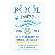 Pool Party Invitation at Zazzle