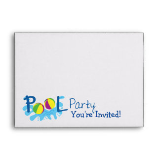 Pool Party Invitation Envelope - Navy