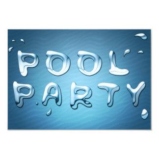pool party invitation : liquids