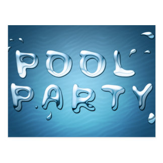 pool party invitation : liquids postcard