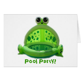 Pool Party! Invitation Stationery Note Card