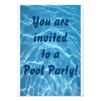 Pool Party Invitation (Water Waves Background)