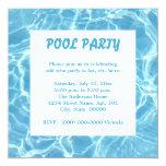 """Pool Party Invitations 5.25"""" Square Invitation Card"""