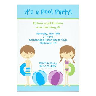 "Pool Party Invitations 5"" X 7"" Invitation Card"