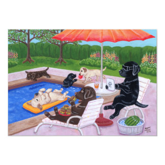 Pool Party Labradors 2 Card