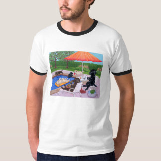 Pool Party Labradors 2 Painting T-Shirt