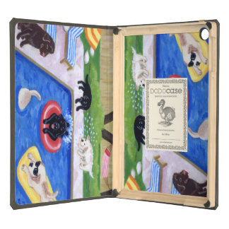 Pool Party Labradors Painting Cover For iPad Air
