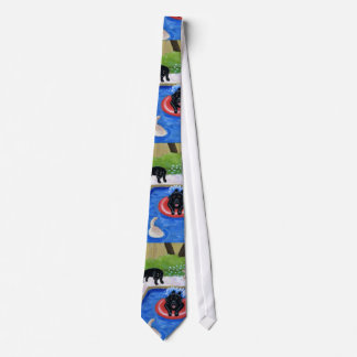 Pool party Labradors Tie