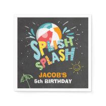 Pool party Paper Napkins Birthday Splish Splash