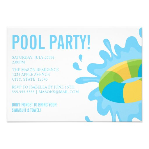 POOL PARTY | Party Invitation