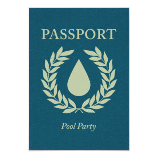 pool party passport card