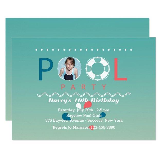 Invitation Pool Party as beautiful invitations example