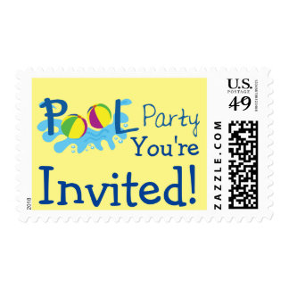 Pool Party Postage Stamp