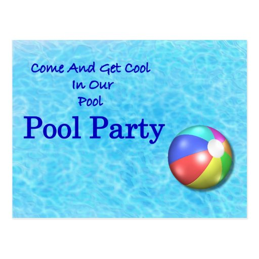 Pool Party Postcards