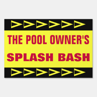 POOL PARTY SIGN